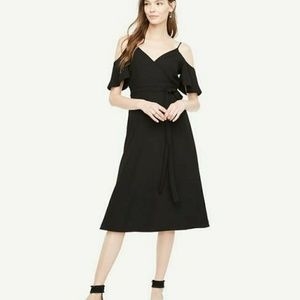 Petite Ann Taylor Cold shoulder Dress